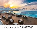 beautiful tropical  caribbean... | Shutterstock . vector #336827900