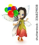cute toon fairy with wings... | Shutterstock . vector #336829838