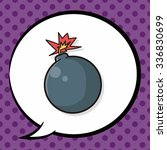 bomb doodle  speech bubble | Shutterstock .eps vector #336830699
