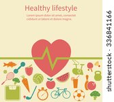 healthy lifestyle concept.... | Shutterstock .eps vector #336841166