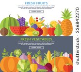 fresh fruits and vegetables... | Shutterstock . vector #336842270