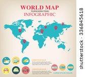 world map info graphic vector. | Shutterstock .eps vector #336845618