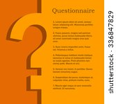 orange and yellow questionnaire ... | Shutterstock .eps vector #336847829