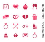 illustration trendy flat icons... | Shutterstock . vector #336848228