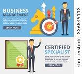 business management  certified... | Shutterstock . vector #336849113