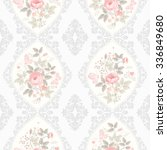 seamless floral pattern with... | Shutterstock .eps vector #336849680