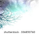 silhouette of autumn leafless... | Shutterstock . vector #336850760