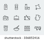 milk and other dairy products... | Shutterstock .eps vector #336852416