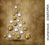 abstract christmas tree of... | Shutterstock .eps vector #336853904