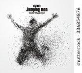 jump man vector graphics... | Shutterstock .eps vector #336854876