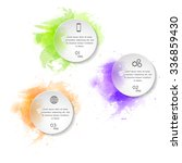 watercolor infographics...   Shutterstock .eps vector #336859430