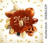 nuts  vector label | Shutterstock .eps vector #336861329