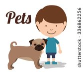 pet dog design  vector... | Shutterstock .eps vector #336862256
