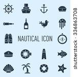 set of nautical icon