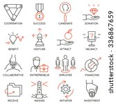 vector set of 16 icons related... | Shutterstock .eps vector #336867659