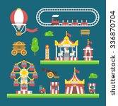 flat design carnival amusement...   Shutterstock .eps vector #336870704