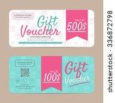 gift voucher template   eps10... | Shutterstock .eps vector #336872798