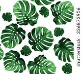 seamless pattern of leaves... | Shutterstock .eps vector #336873956