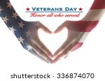 usa veterans day with united... | Shutterstock . vector #336874070
