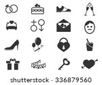 wedding  symbol for web icons | Shutterstock .eps vector #336879560