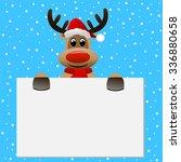 funny reindeer christmas hat...   Shutterstock .eps vector #336880658