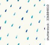 watercolor rain drops seamless...   Shutterstock .eps vector #336884810