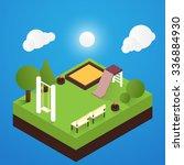 vector isometric playground...   Shutterstock .eps vector #336884930