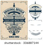 old card design with elements... | Shutterstock .eps vector #336887144
