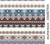 ethnic boho seamless pattern.... | Shutterstock . vector #336887504