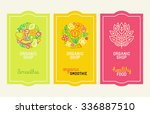 vector set of design elements ... | Shutterstock .eps vector #336887510