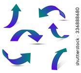 set of gradient arrow stickers | Shutterstock .eps vector #336888680