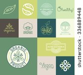 vector set of natural  organic  ... | Shutterstock .eps vector #336889448