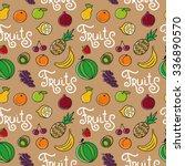 cartoon vector seamless pattern ... | Shutterstock .eps vector #336890570