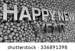 2016 text is standing among... | Shutterstock . vector #336891398
