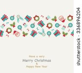 christmas greeting card | Shutterstock .eps vector #336896204