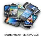 choose mobile phone. heap of...   Shutterstock . vector #336897968