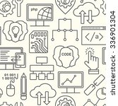 internet technology and... | Shutterstock .eps vector #336901304