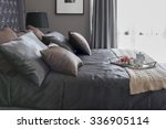 luxury bed with pillows and... | Shutterstock . vector #336905114