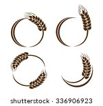 set of abstract wheat ears icons | Shutterstock . vector #336906923