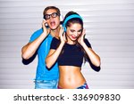 Young Hipster Couple Having Fu...