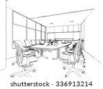 outline sketch drawing... | Shutterstock .eps vector #336913214