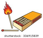 safety matches and matchbox | Shutterstock .eps vector #336915839