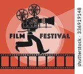 abstract film festival poster ... | Shutterstock .eps vector #336919148