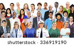diverse people professional... | Shutterstock . vector #336919190