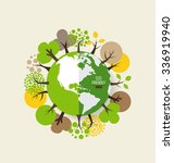 eco friendly. ecology concept... | Shutterstock .eps vector #336919940