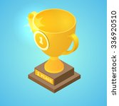 winner cup isometric design  ... | Shutterstock .eps vector #336920510