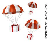 3d colorful parachute and... | Shutterstock . vector #336923090