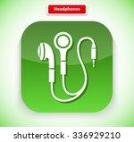 headphone app icon flat style...