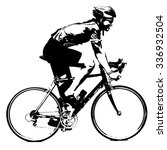 silhouette of a cyclist male. ... | Shutterstock . vector #336932504