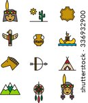 native americans color outline...   Shutterstock .eps vector #336932900
